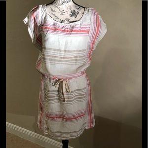 Loft cotton striped dress. Medium